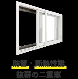 防音・断熱性能 抜群の二重窓