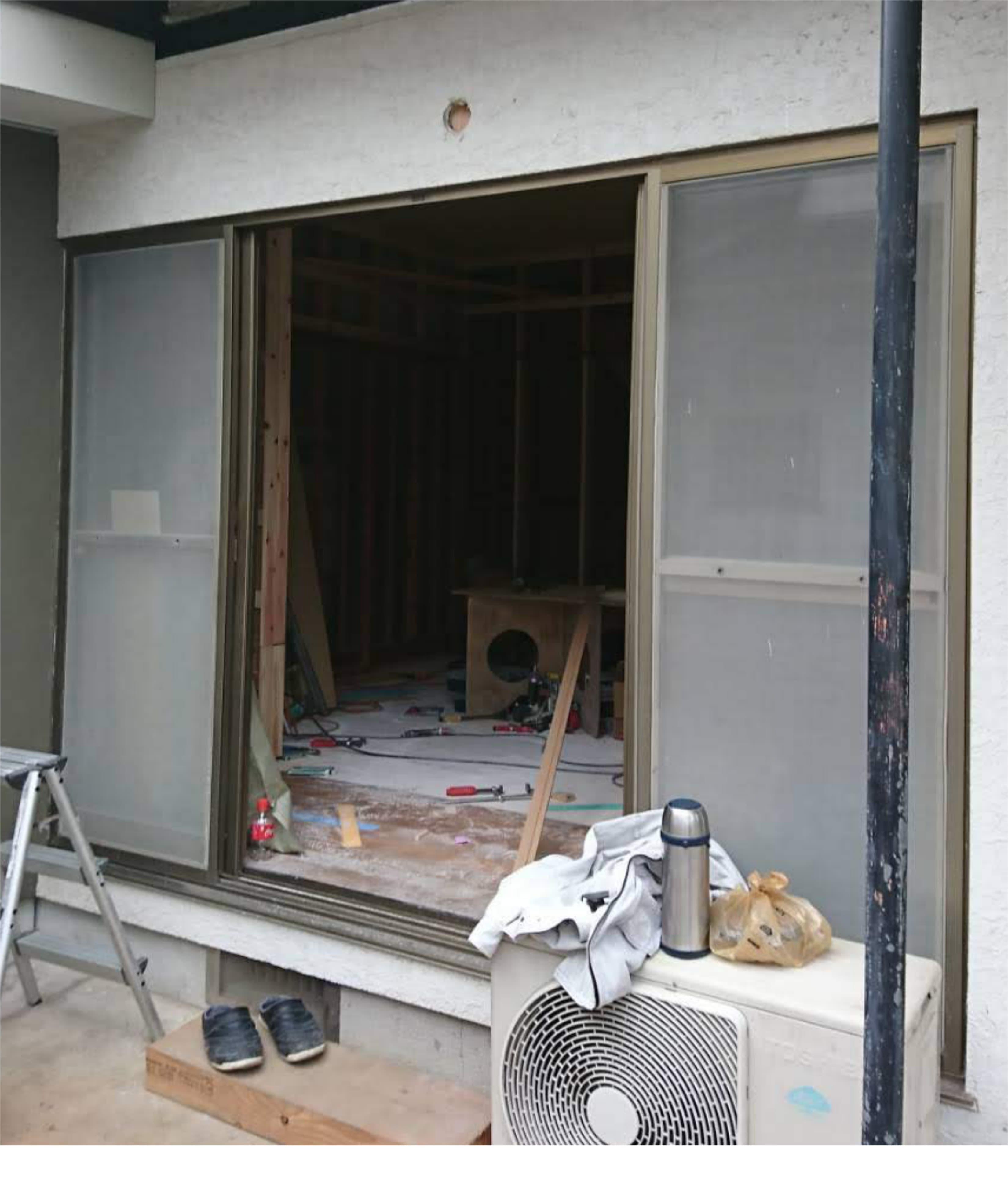 窓ごと交換before