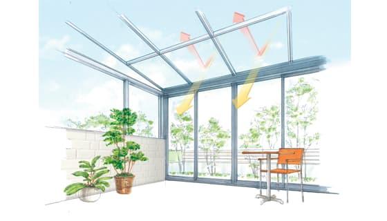明るさと遮熱を両立!進化した屋根パネル。
