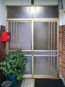 玄関引戸 カバー工法 リシェントタッチキー 熊本市 M様