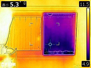 内窓の断熱の効果をサーモグラフィで見える化